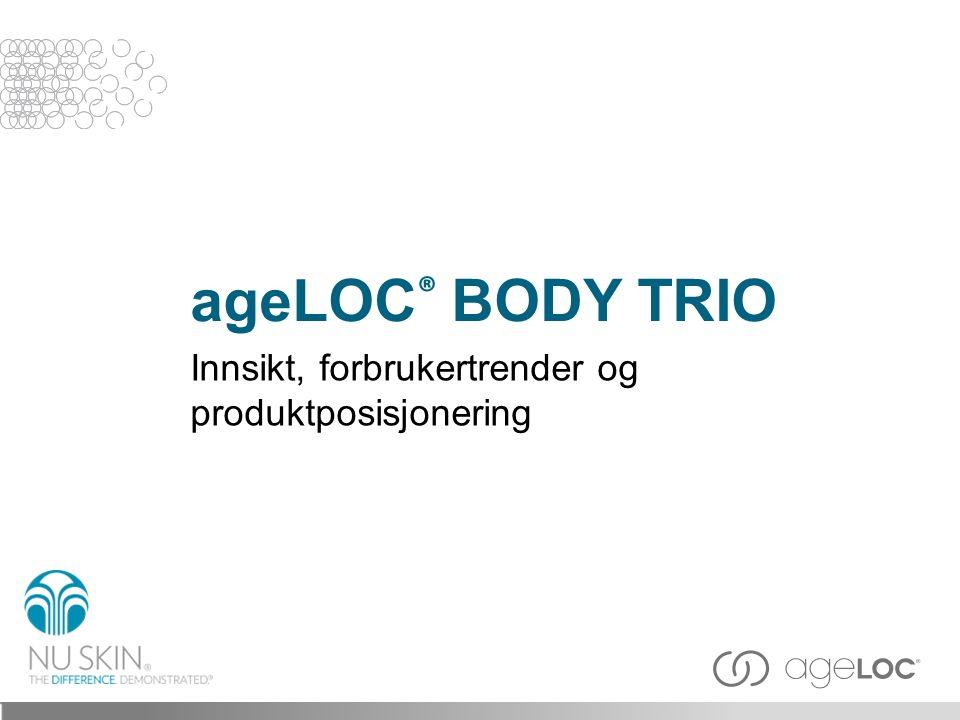 ageLOC® BODY TRIO Innsikt, forbrukertrender og produktposisjonering
