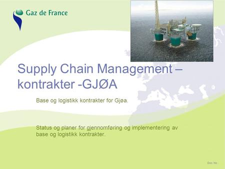 Supply Chain Management –kontrakter -GJØA