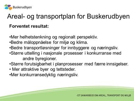Areal- og transportplan for Buskerudbyen