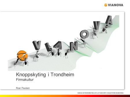 VIANOVA NETWORKMEETING 2013, 25 YEARS WITH CIVIL&SYSTEM ENGINEERING Knoppskyting i Trondheim Firmakultur Roar Paulsen.