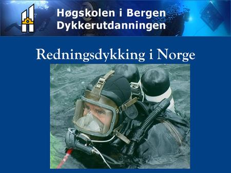 Redningsdykking i Norge