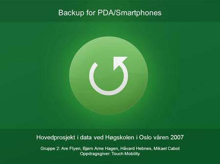 Backup for PDA/Smartphones
