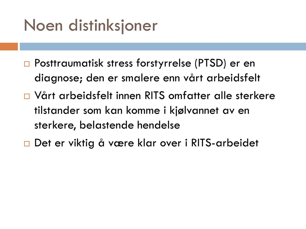 posttraumatisk stress diagnose