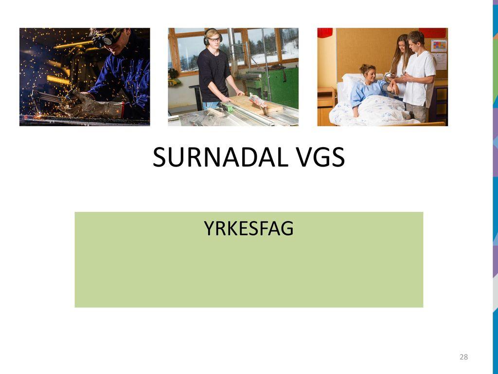 e2e707dae SURNADAL VIDAREGÅANDE SKOLE - ppt laste ned