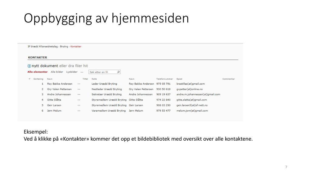 b8f386f0 Kurs i oppbygging av Urædd sin hjemmeside - ppt laste ned