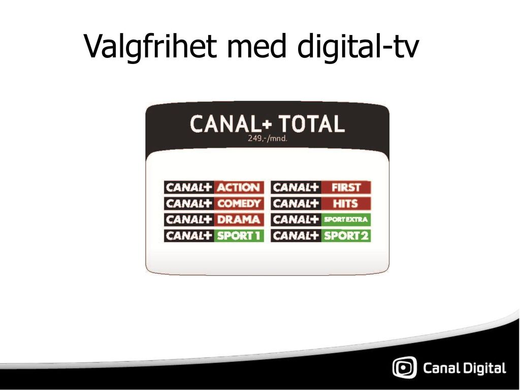 0a99a0be Canal Digital. - ppt laste ned