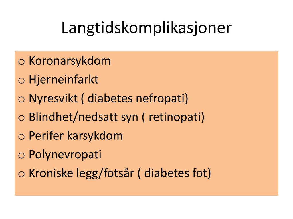 nedsatt nyrefunksjon sintomático diabetes