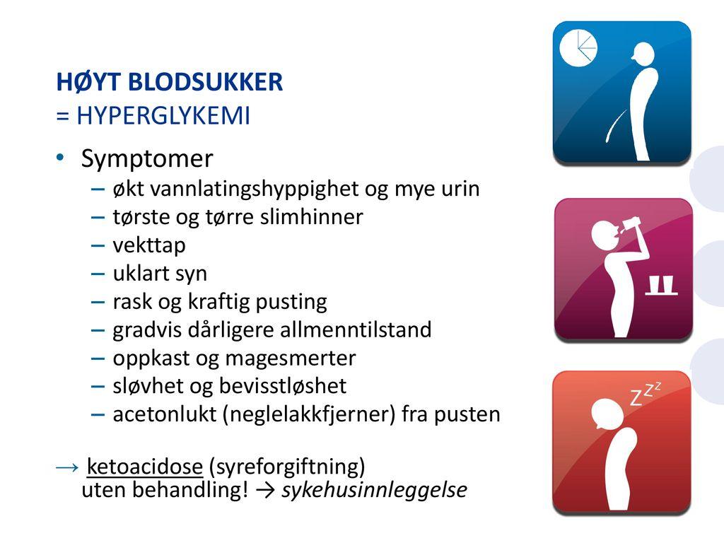 hyperglykemi symptomer