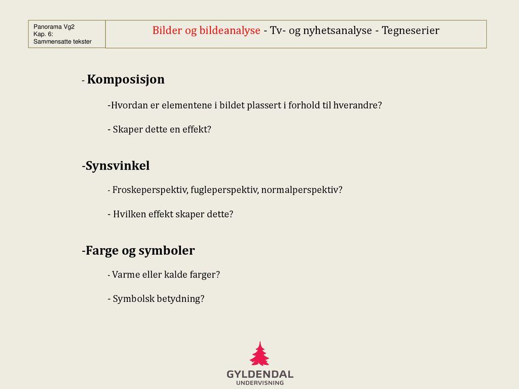 Fortællertyper - af lærer på Køge Gymnasium