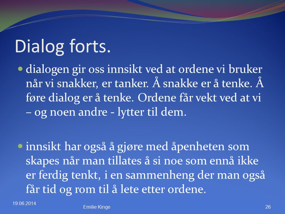 Dialog forts.