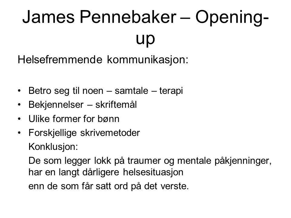 James Pennebaker – Opening-up