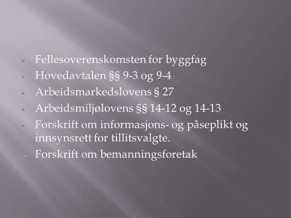 Fellesoverenskomsten for byggfag