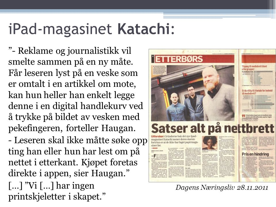 iPad-magasinet Katachi: