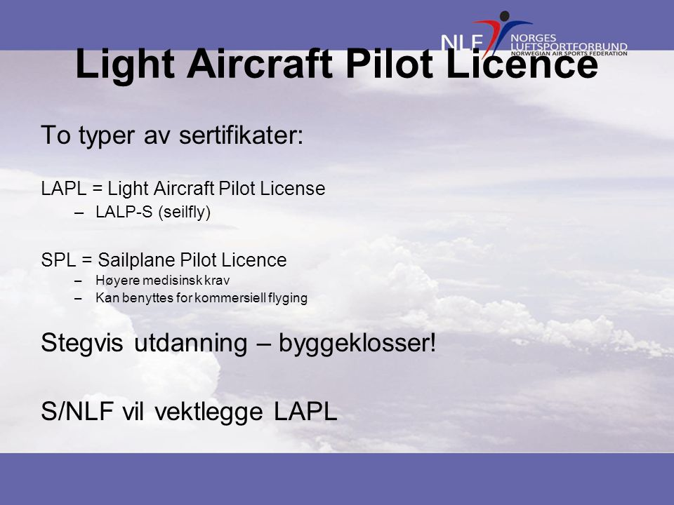 Light Aircraft Pilot Licence
