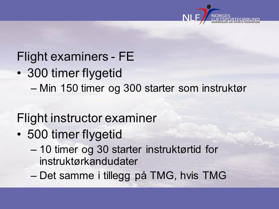 Flight instructor examiner 500 timer flygetid