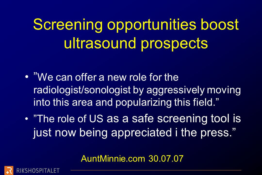 Screening opportunities boost ultrasound prospects