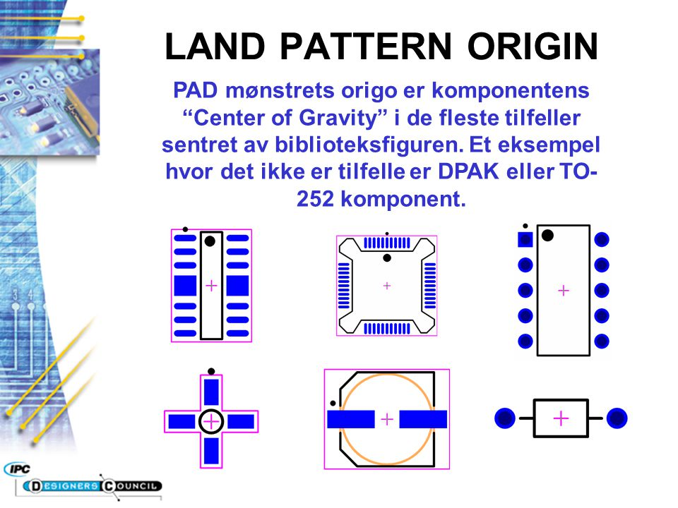 LAND PATTERN ORIGIN
