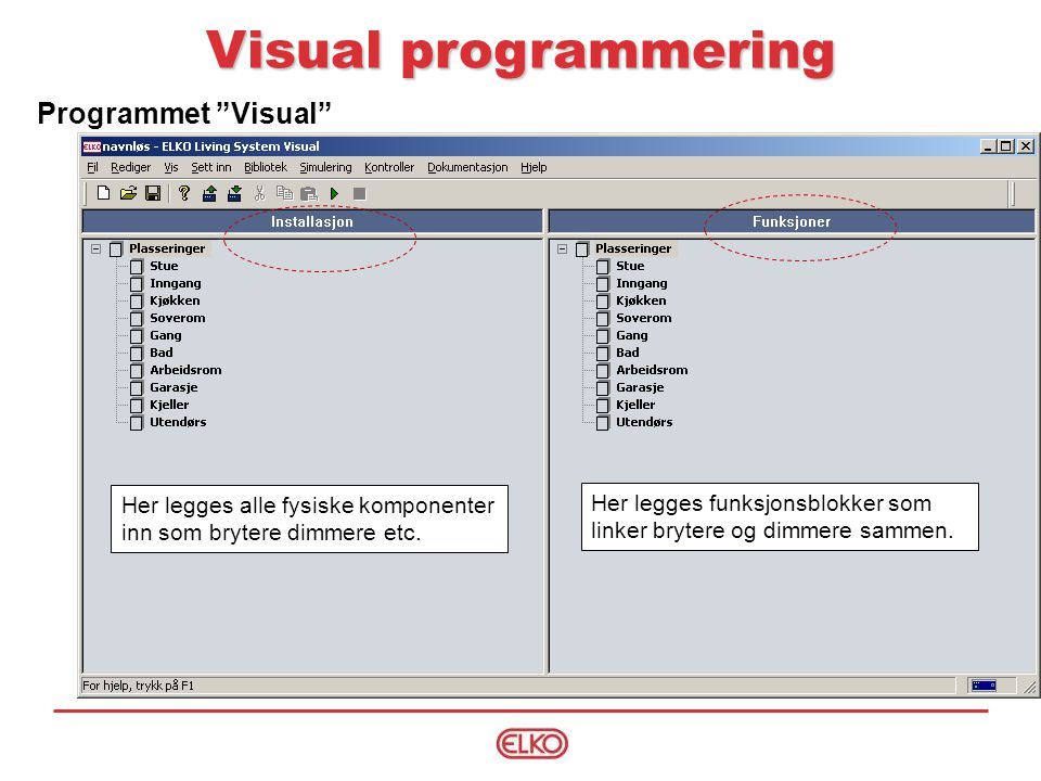 Visual programmering Programmet Visual