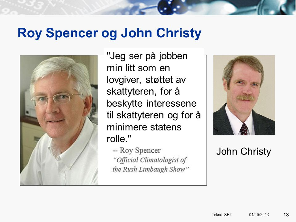 Roy Spencer og John Christy