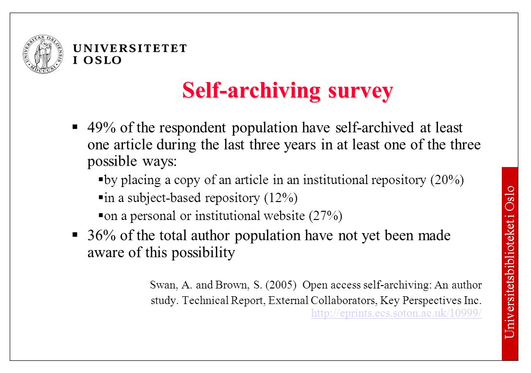 Reasons for publishing in Open Access journals