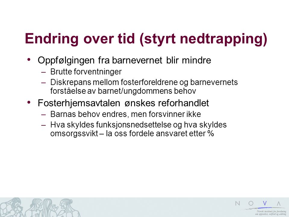 Endring over tid (styrt nedtrapping)