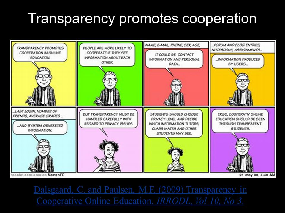Transparency promotes cooperation