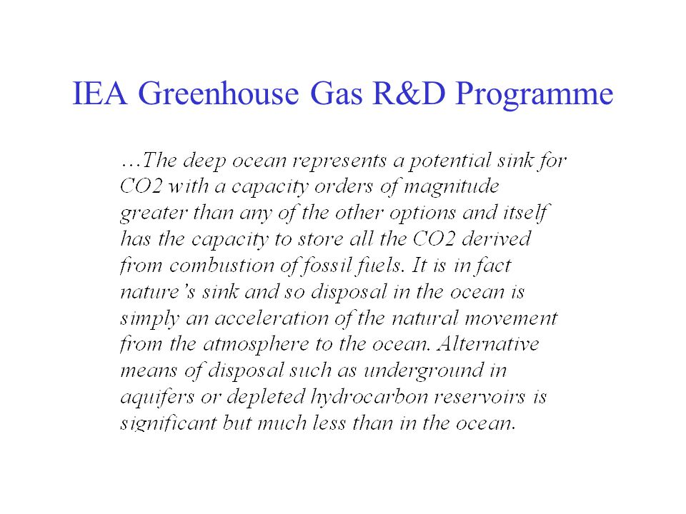 IEA Greenhouse Gas R&D Programme