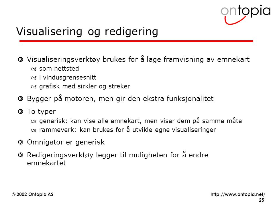 Visualisering og redigering