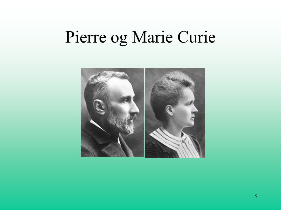 Pierre og Marie Curie