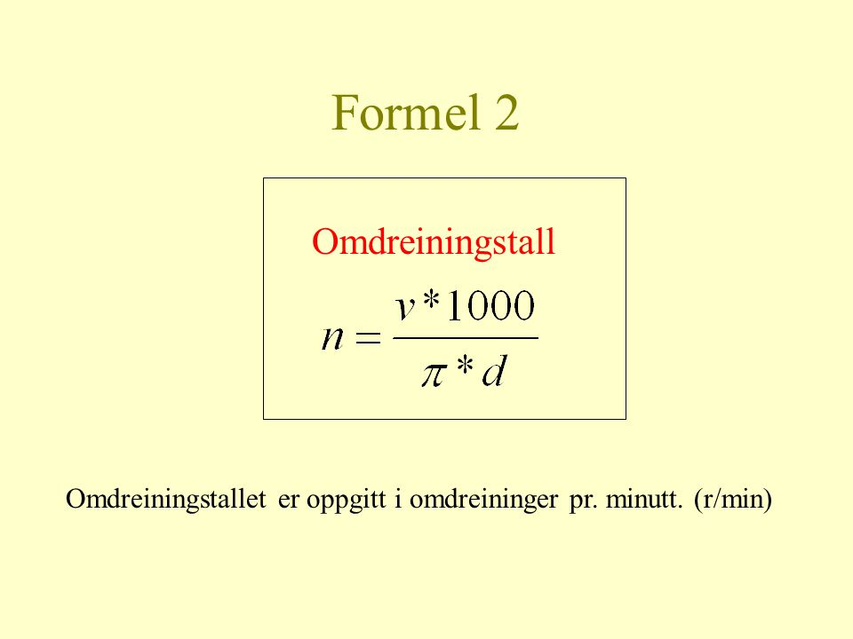 Formel 2 Omdreiningstall