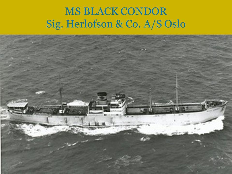 MS BLACK CONDOR Sig. Herlofson & Co. A/S Oslo