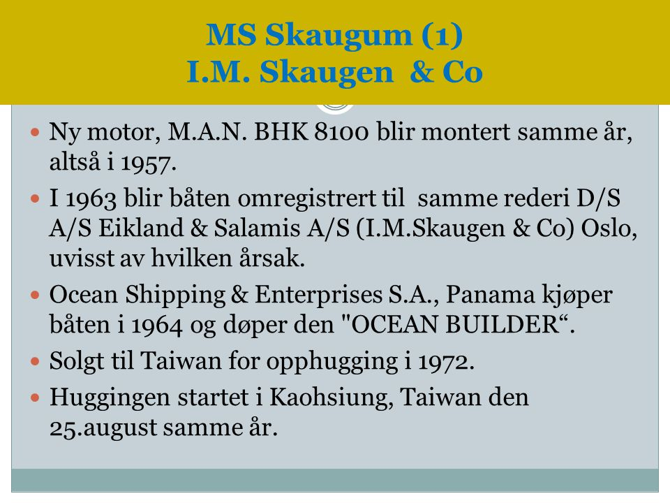 MS Skaugum (1) I.M. Skaugen & Co