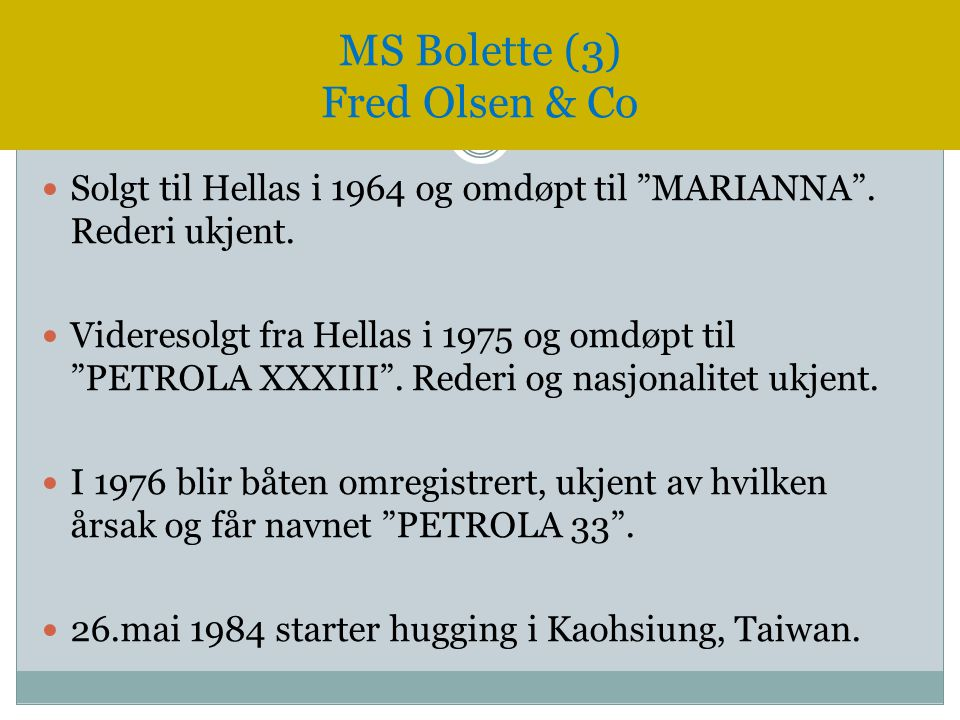 MS Bolette (3) Fred Olsen & Co