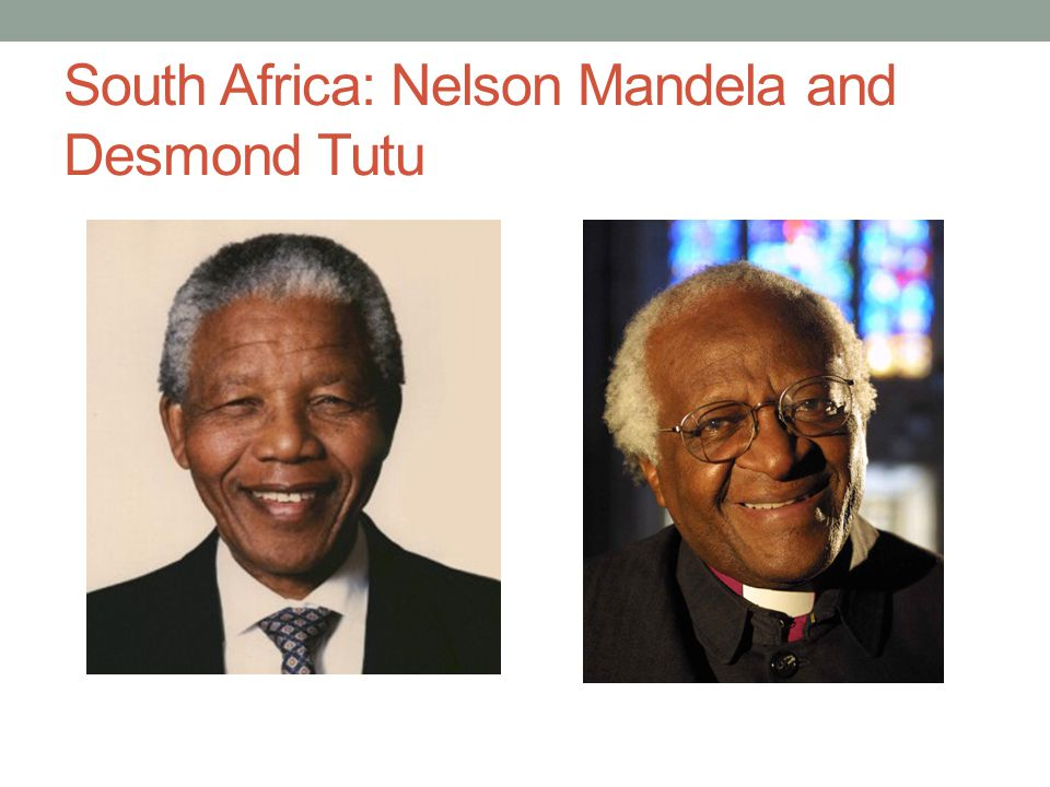 South Africa: Nelson Mandela and Desmond Tutu