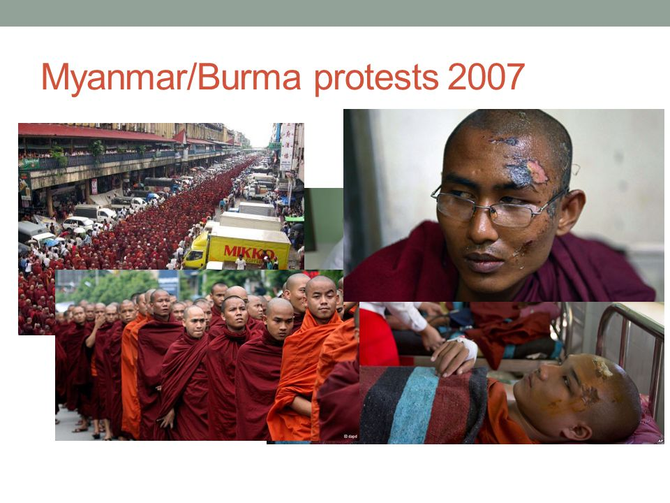 Myanmar/Burma protests 2007