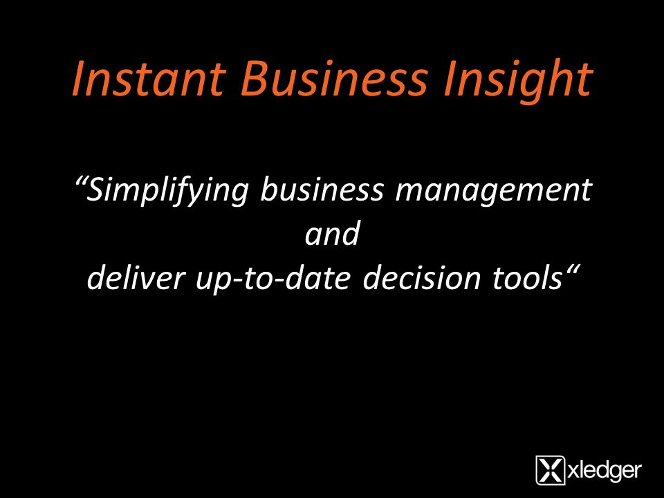Instant Business Insight