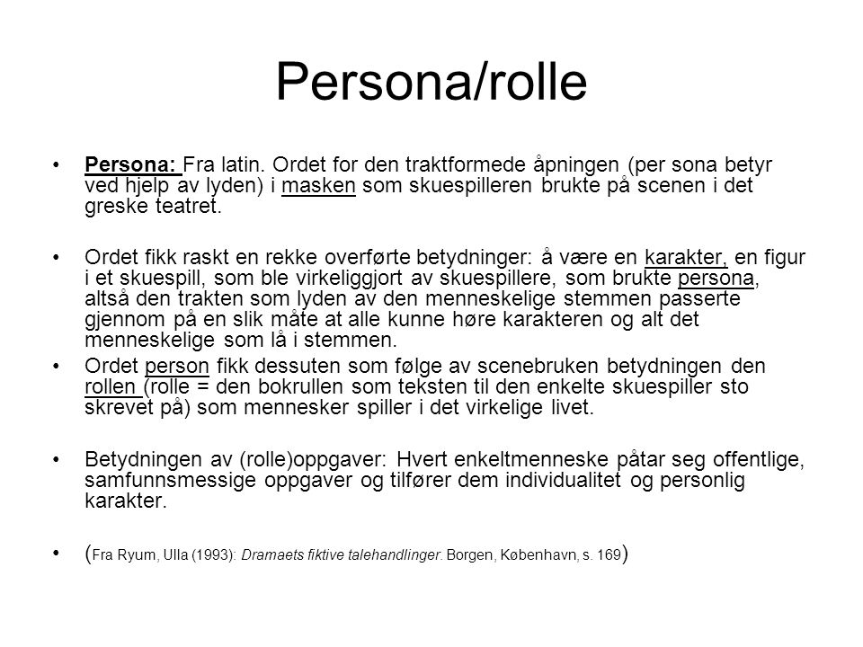 Persona/rolle