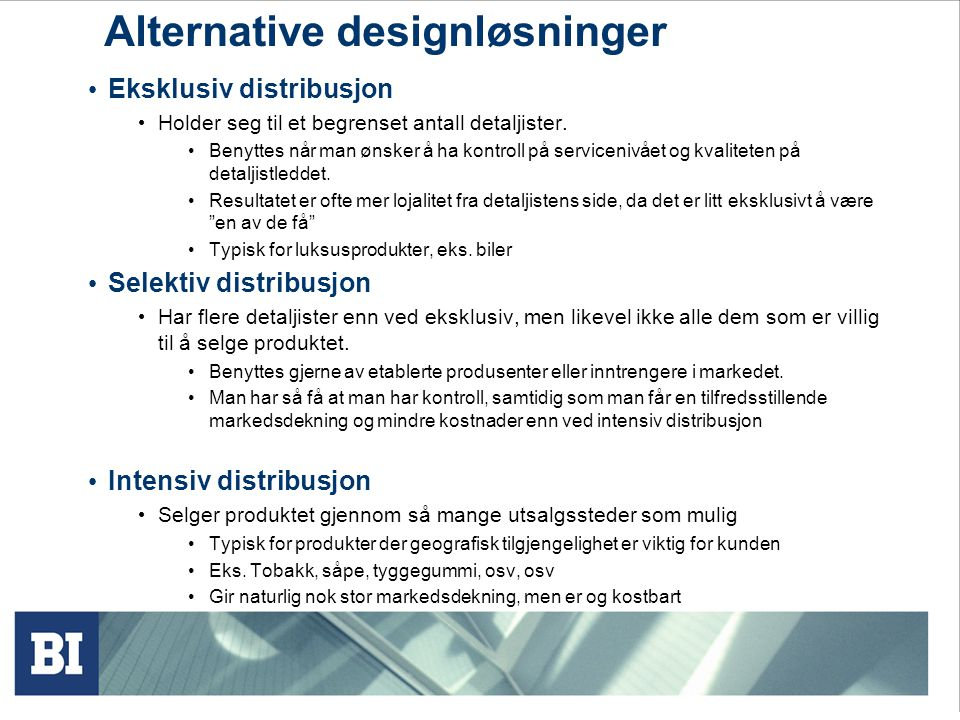 Alternative designløsninger