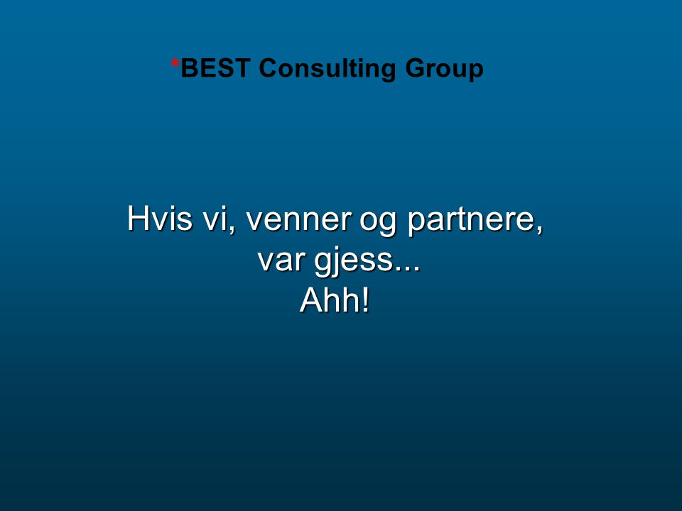 *BEST Consulting Group