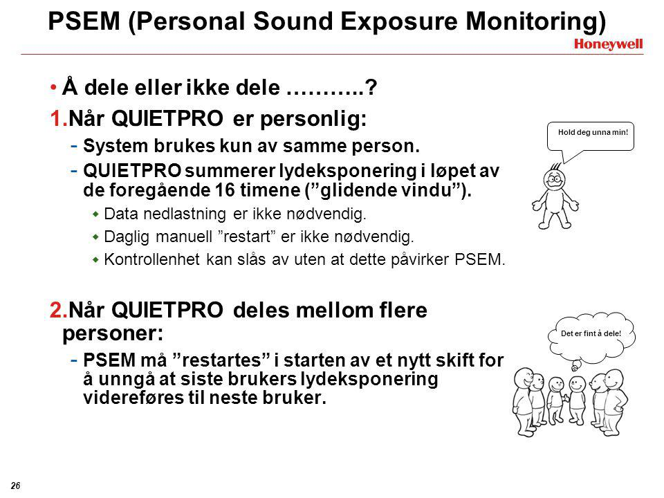 PSEM (Personal Sound Exposure Monitoring)
