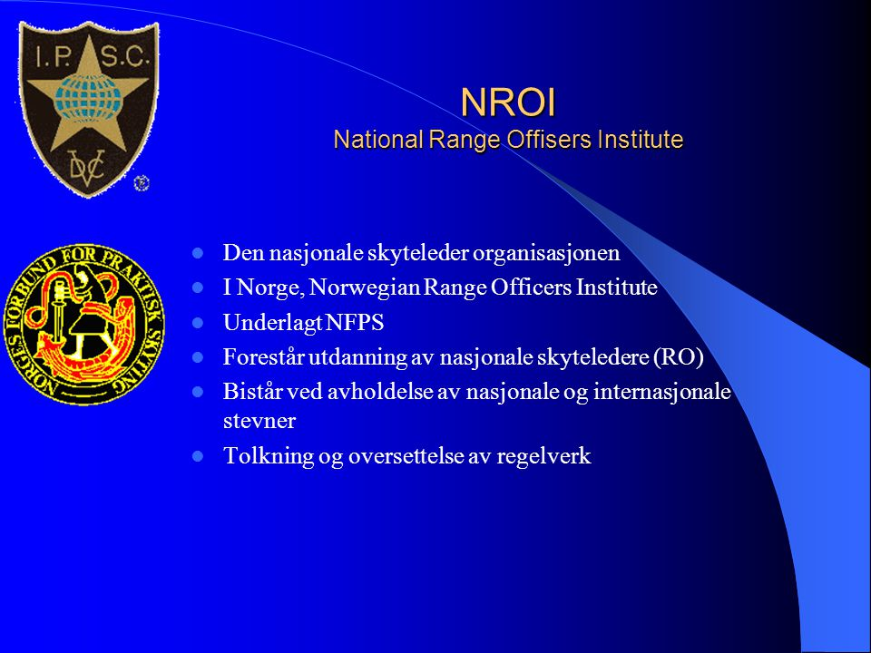 NROI National Range Offisers Institute