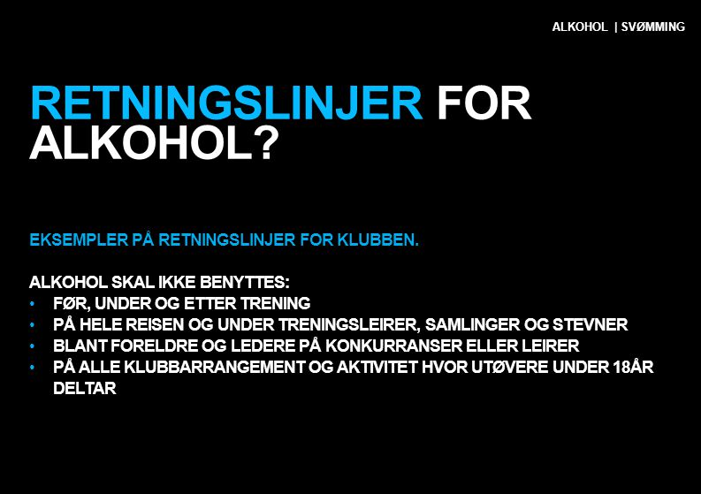 Retningslinjer for alkohol