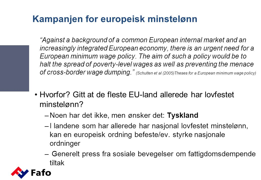 Kampanjen for europeisk minstelønn