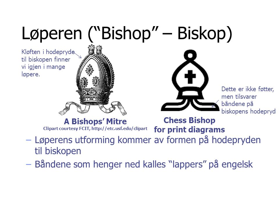 Løperen ( Bishop – Biskop)