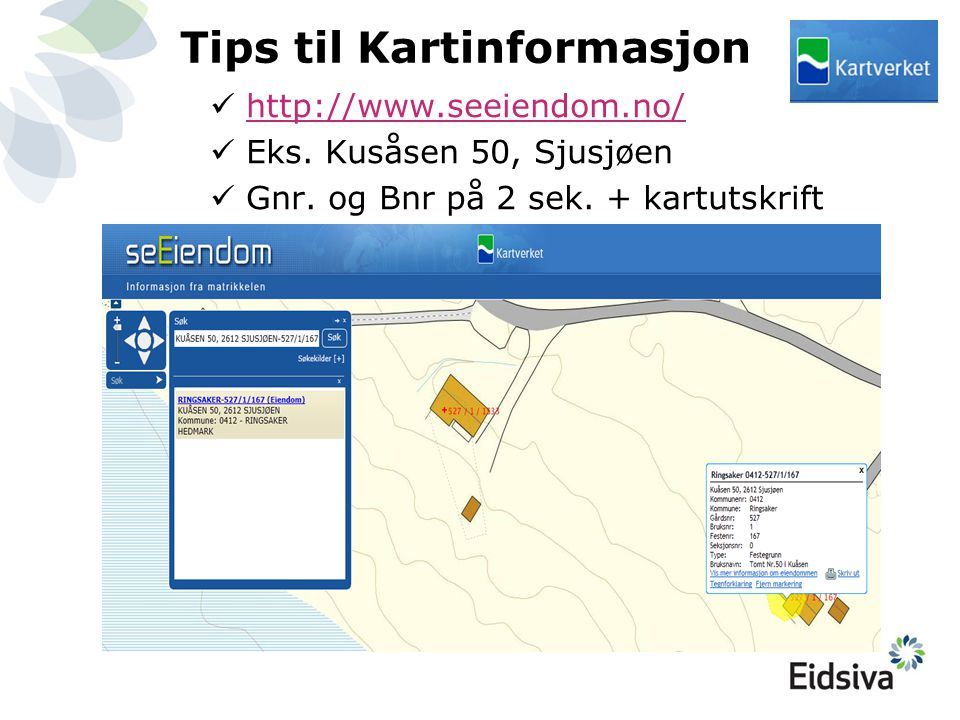 Tips til Kartinformasjon