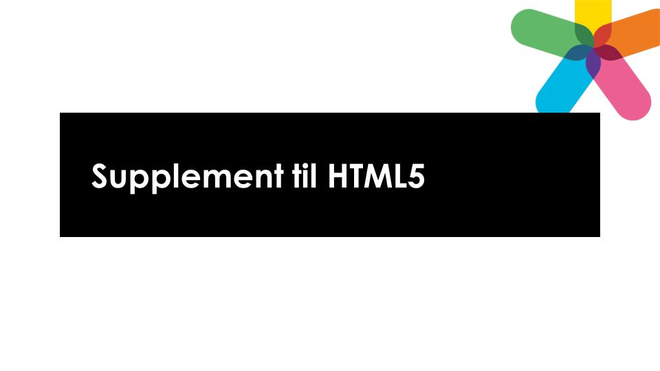 Supplement til HTML5