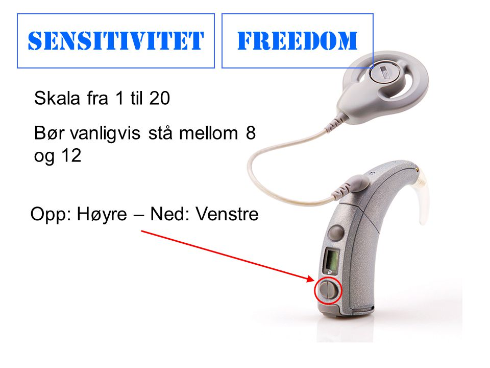 Sensitivitet Freedom Skala fra 1 til 20