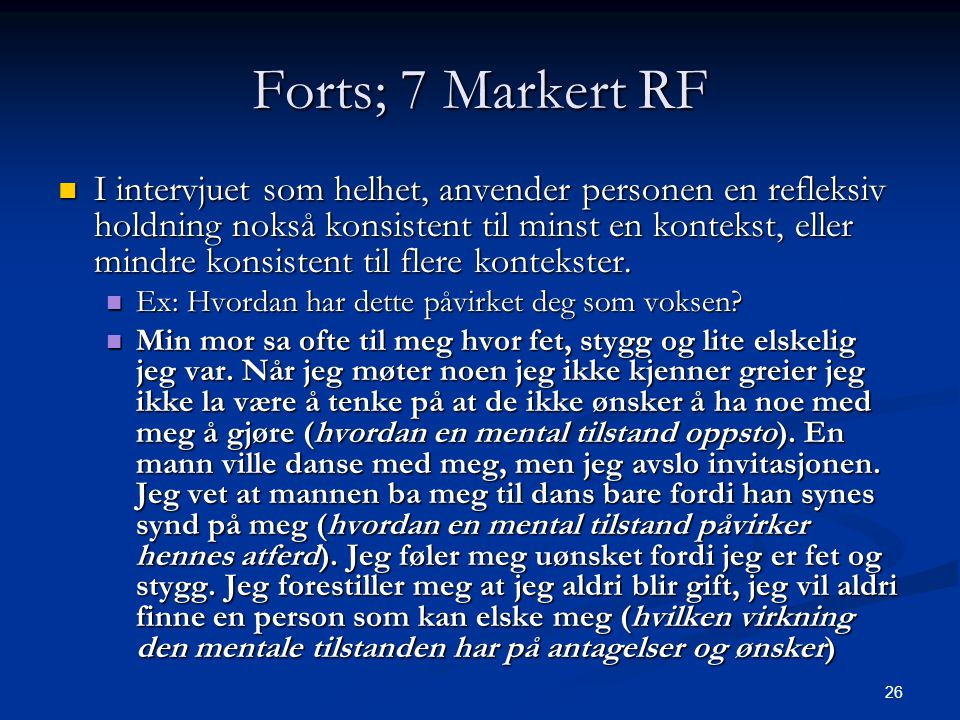 Forts; 7 Markert RF
