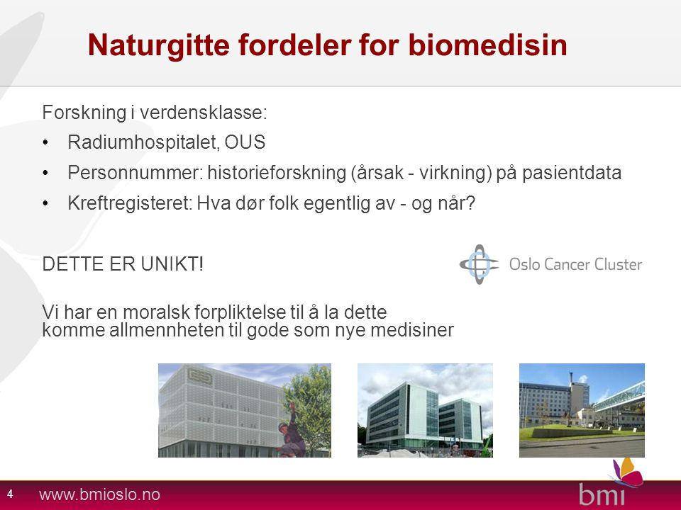 Naturgitte fordeler for biomedisin