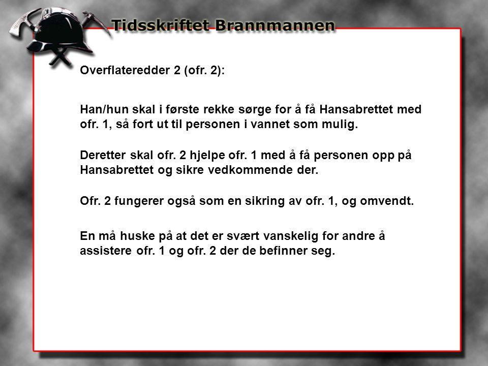 Overflateredder 2 (ofr. 2):